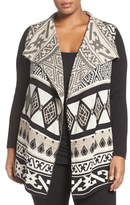 Lucky Brand Plus Size Women's Drape Front Cardigan