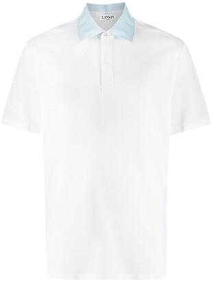 Lanvin Stripe Pique Polo Shirt