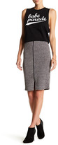 Lovers + Friends Downtown Marled Ribbed Knit Skirt