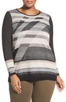 Nic+Zoe Plus Size Women's Spellbound Knit Top