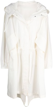 Jil Sander Logo-Print Hooded Raincoat