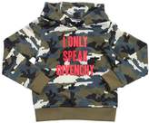 Givenchy Camo Print Hooded Cotton Sweatshirt