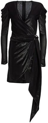 Jonathan Simkhai Asymmetric Knit Wrap Dress