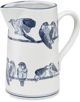 "One Kings Lane 10"" Ceramic Bird Pitcher - Blue/White"