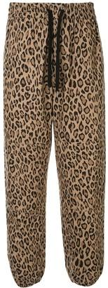 Ports V Leopard-Print Track Pants