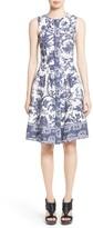 Oscar de la Renta Women's Print Fit & Flare Dress