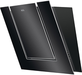 AEG DVB3550B Angled Chimney Cooker Hood, Black Glass