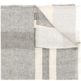 Fabiana Filippi Colour Block Frayed Scarf