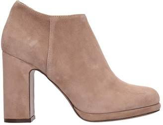 L'Autre Chose Lautre Chose LAutre Chose High Heels Ankle Boots In Rose-pink Suede