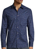 Claiborne Long-Sleeve Collections Slim-Fit Stretch Woven Shirt