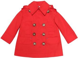 BURBERRY KIDS Cotton-twill coat
