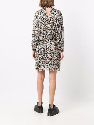 Lala Berlin Darleen leopard-print satin dress