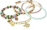 Alex and Ani Pufferfish Set of 5 Shiny Gold Bangle Bracelet