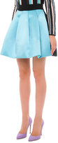 Fausto Puglisi Bicolor Pleated A-Line Skirt