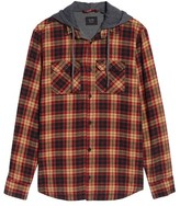 Globe Men's 'Alford' Trim Fit Long Sleeve Plaid Hooded Shirt