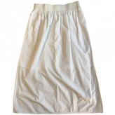 Cos White Cotton Skirt for Women