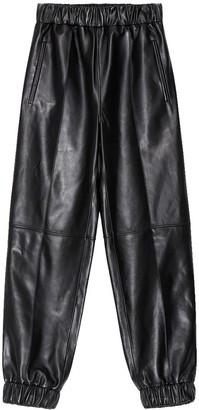 Ganni Leather Jogger Pant