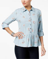 Style&Co. Style & Co Peplum Shirt, Created for Macy's
