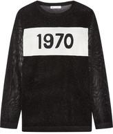 Bella Freud 1970 Metallic Intarsia Knitted Sweater - Black