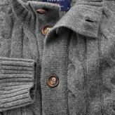 Charles Tyrwhitt Grey lambswool cable knit cardigan