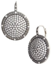 Freida Rothman Women's Contemporary Deco Pave Drop Earrings