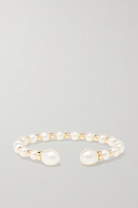 Anissa Kermiche Impromptu 14-karat Gold Pearl Cuff - White