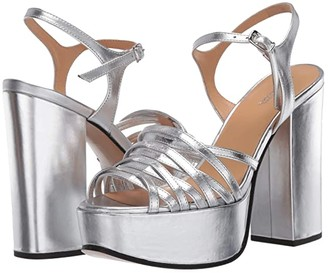 Marc Jacobs The Glam Sandal 80 mm (Silver) Women's Shoes