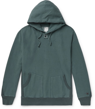 Champion + Craig Green Garment-Dyed Loopback Cotton-Blend Jersey Hoodie