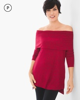 Chico's Winni Plush Cowl-Neck Top