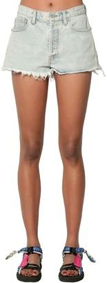 Off-White Cotton Denim Shorts