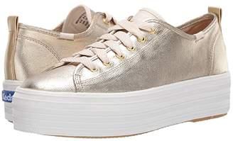 Keds Triple Up Metallic Twill (Gold Metallic Twill) Women's Shoes
