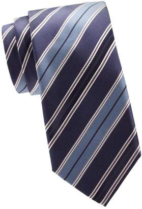 Brioni Regimental Diagonal Stripe Silk Tie