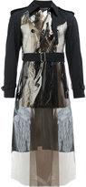Comme des Garcons metallic panel double-breasted coat - men - Polyurethane/Wool - M