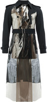 Comme des Garcons metallic panel double-breasted coat - men - Polyurethane/Wool - S