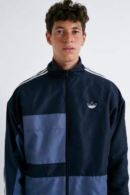 adidas Asymm Legend Ink Track Jacket - blue S at Urban Outfitters