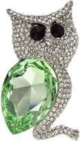 Krustallos Swarovski Crystal Brooch Owl Design (Peridot)
