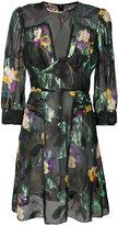 Anna Sui sheer floral metallic dress
