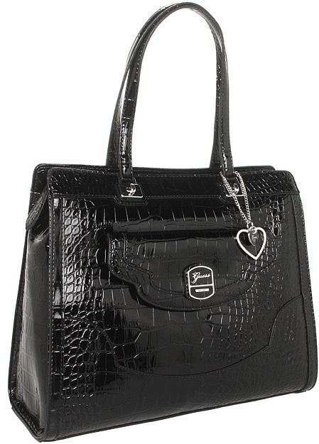 GUESS Newlyn Satchel (Black) - Bags and Luggage