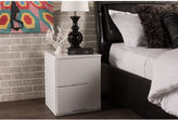 Asstd National Brand Baxton Studio Washington 2-Drawer Wood Nightstand