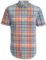 Lacoste Short Sleeve Checked Shirt Papaya