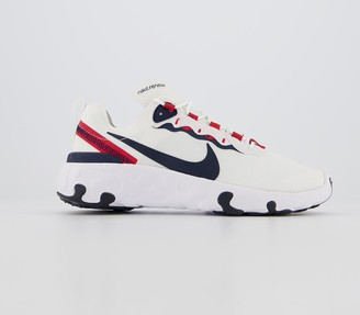 Nike Renew Element 55 Gs Trainers Summit White Obsidian University Red