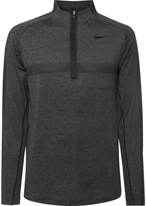 Nike Slim-Fit Melange Dri-Fit Half-Zip Golf Top