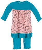 Kickee Pants Snappy Romper - Turquoise/Aqua, Size 6-12m