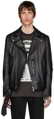 Acne Studios Black Leather Nate Clean Jacket
