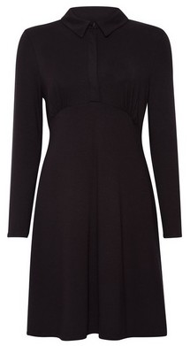 Dorothy Perkins Womens Black Jersey Shirt Dress, Black