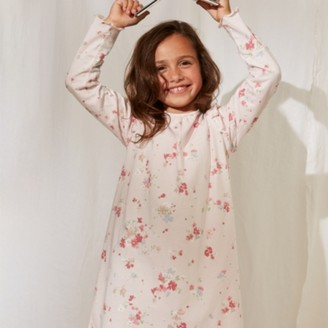 The White Company Floral Nightdress (1-12yrs), Pink, 7-8yrs