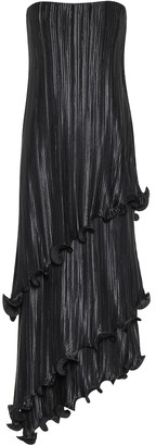 Givenchy Asymmetric pleated satin midi dress