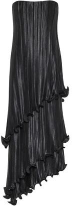 Givenchy Asymmetric pleated satin midi dress