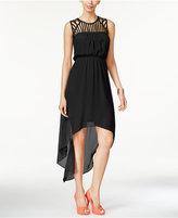 Thalia Sodi Lattice-Detail High-Low Maxi Dress, Only at Macy's
