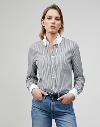 Lafayette 148 New York Plus-Size Centennial Stripe Davitt Shirt